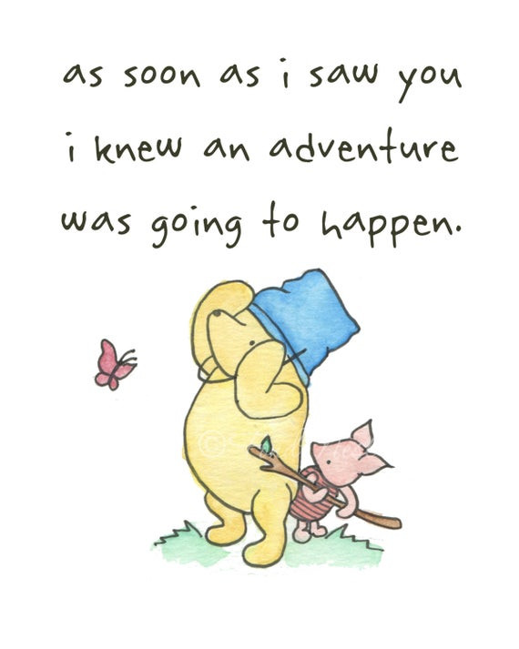 Pooh Birthday Quotes  Items similar to Winnie the Pooh Piglet Cute Quote