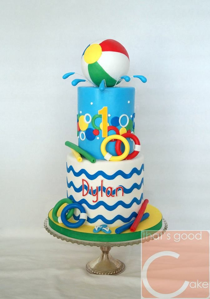 Pool Party Cake Ideas For Birthdays  25 best ideas about Swim party cupcakes on Pinterest