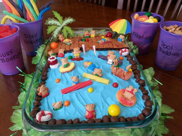 Pool Party Cake Ideas For Birthdays  25 best ideas about Pool party foods on Pinterest