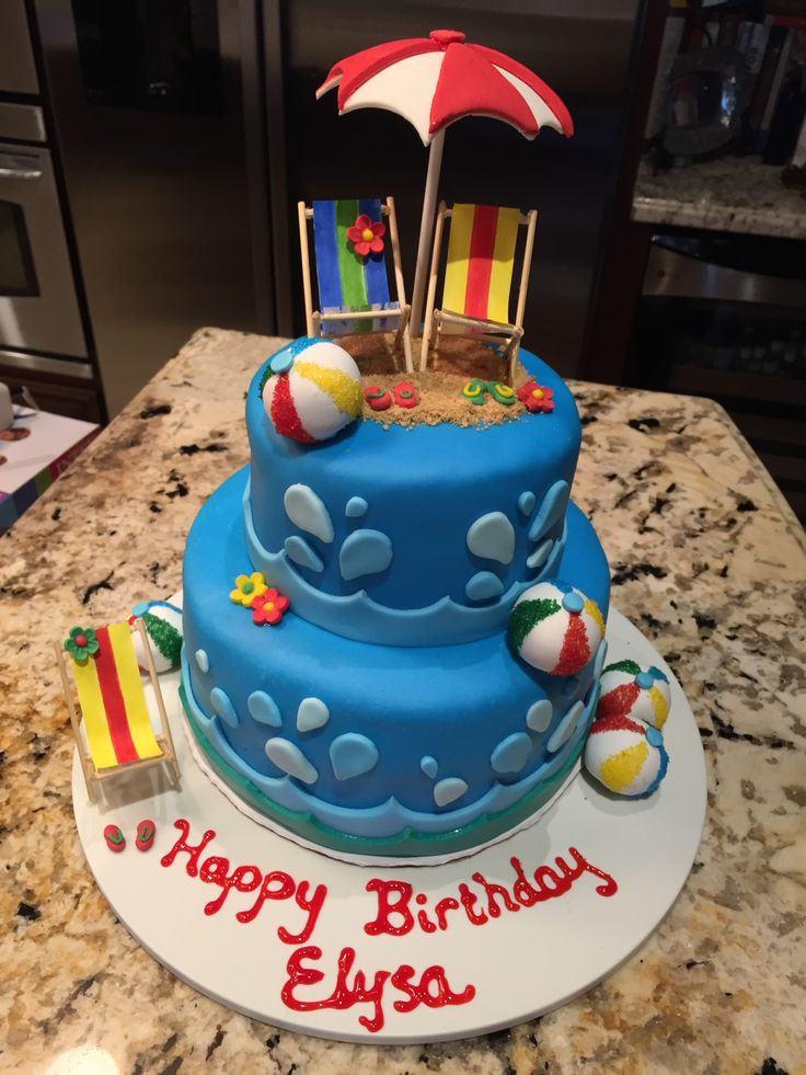 Pool Party Cake Ideas For Birthdays  17 Best ideas about Pool Party Birthday on Pinterest