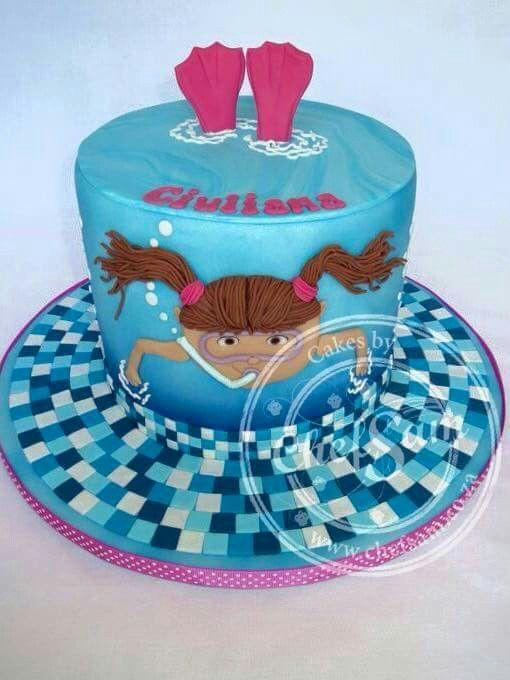 Pool Party Cake Ideas For Birthdays  Cute for summer pool party cakes