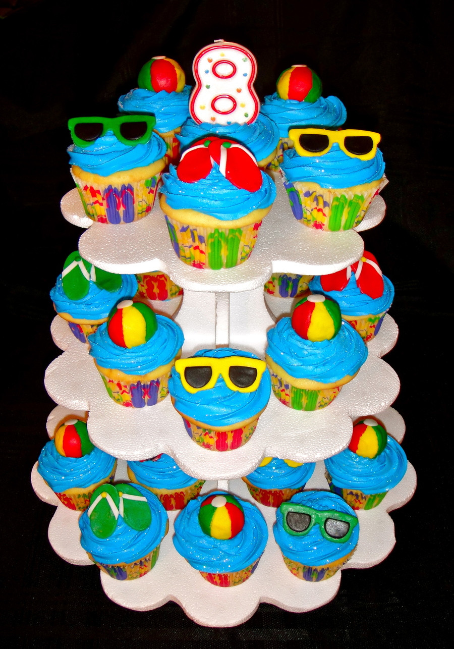 Pool Party Cake Ideas For Birthdays  Pool Party Cupcakes CakeCentral