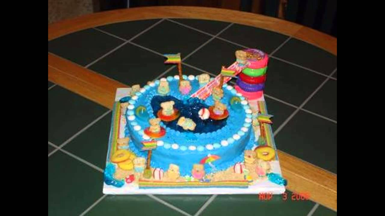 Pool Party Cake Ideas For Birthdays  Pool party cake decorations ideas