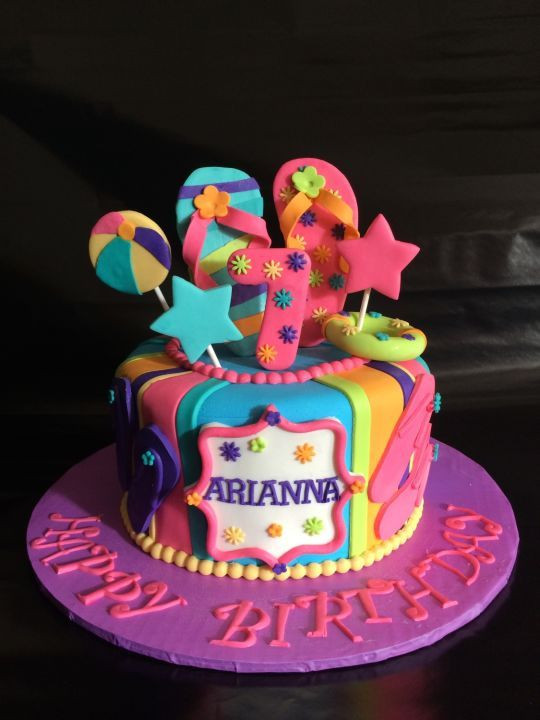 Pool Party Cake Ideas For Birthdays  Pool party summer fun in the sun Birthday Cake Cake by