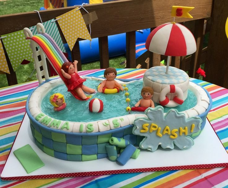Pool Party Cake Ideas For Birthdays  88 best images about Pool Cakes on Pinterest