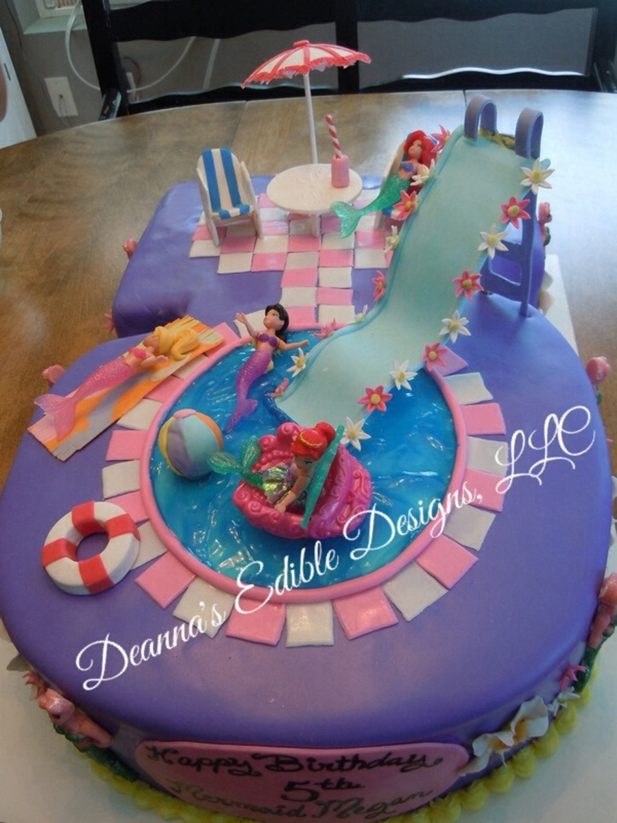 Pool Party Cake Ideas For Birthdays  Pool Party Cake CakeCentral