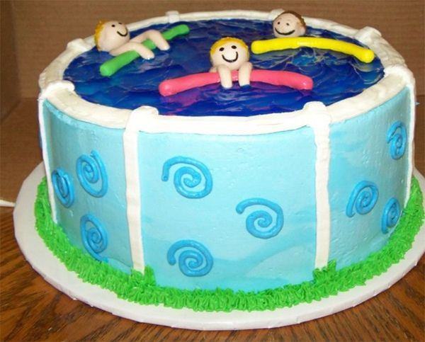 Pool Party Cake Ideas For Birthdays  Best 25 Swimming pool cakes ideas on Pinterest