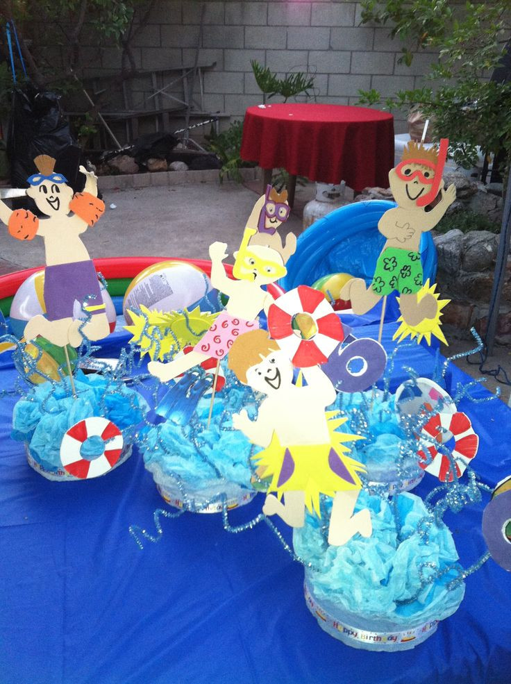 Pool Party Centerpieces Ideas  52 best Pool party images on Pinterest