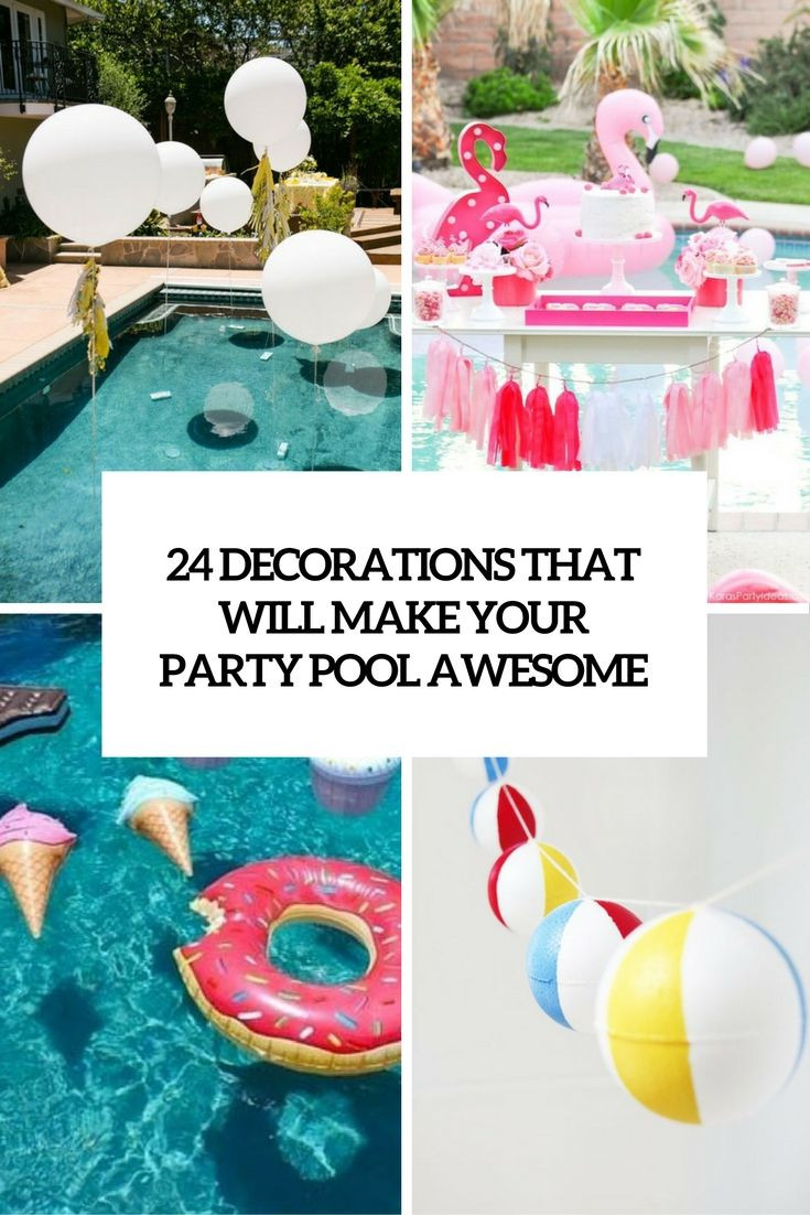 Pool Party Centerpieces Ideas  decorations that will make any pool party awesome cover