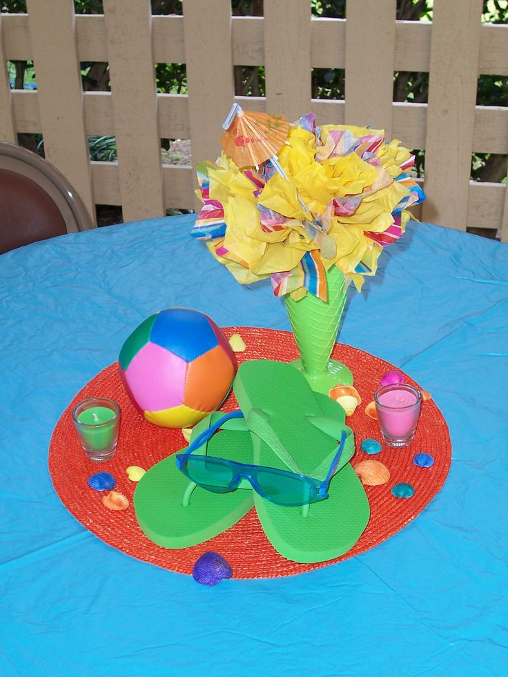 Pool Party Centerpieces Ideas  7 best Pool Party images on Pinterest