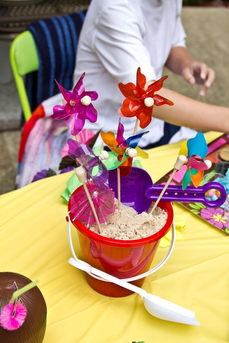 Pool Party Centerpieces Ideas  70 best First Birthday Beach Party Ideas images on