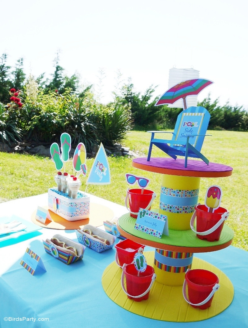 Pool Party Centerpieces Ideas  Pool Party Ideas & Kids Summer Printables Party Ideas