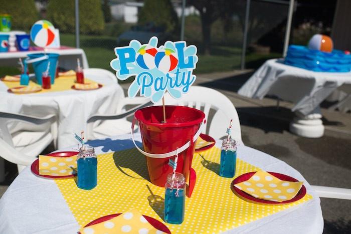 Pool Party Centerpieces Ideas  Splish Splash Pool Party Bash