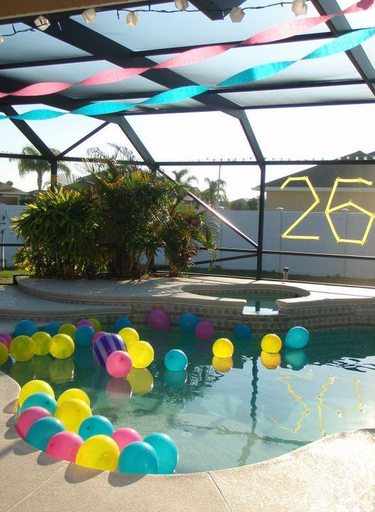 Pool Party Centerpieces Ideas  30 best Balloon in pool images on Pinterest