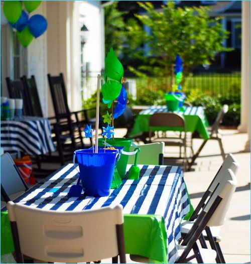 Pool Party Centerpieces Ideas  58 best images about Twins Birthday on Pinterest