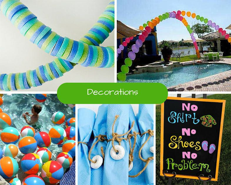 Pool Party Centerpieces Ideas  Kids Pool Party Ideas