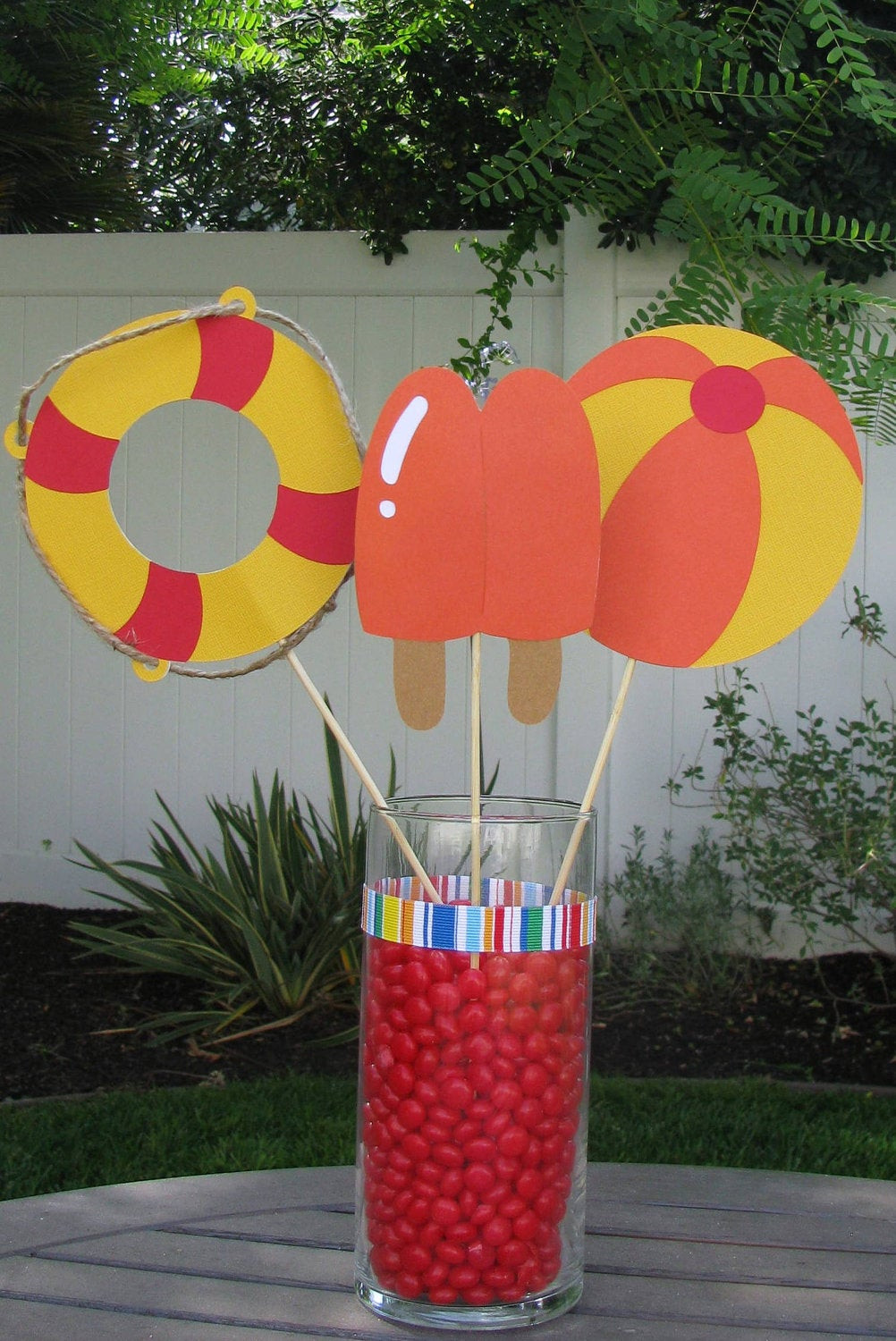 Pool Party Centerpieces Ideas  Pool Party Table Decorations Set of 3 MADE TO ORDER