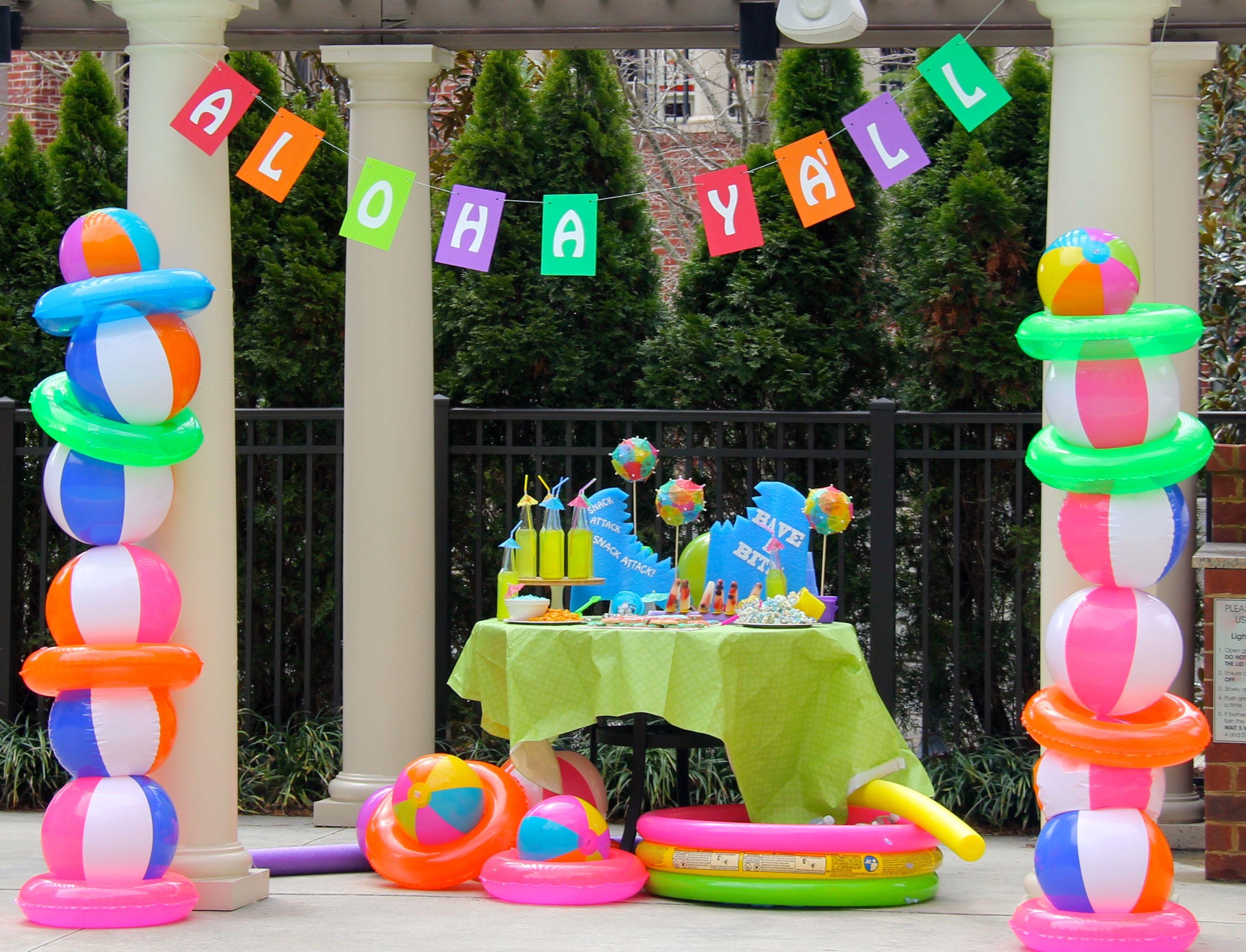 Pool Party Centerpieces Ideas  Beach Ball Party Decor – Call Us Suzy … Birthday