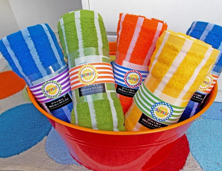 Pool Party Gifts Ideas  could monogram towels for the kids as favors