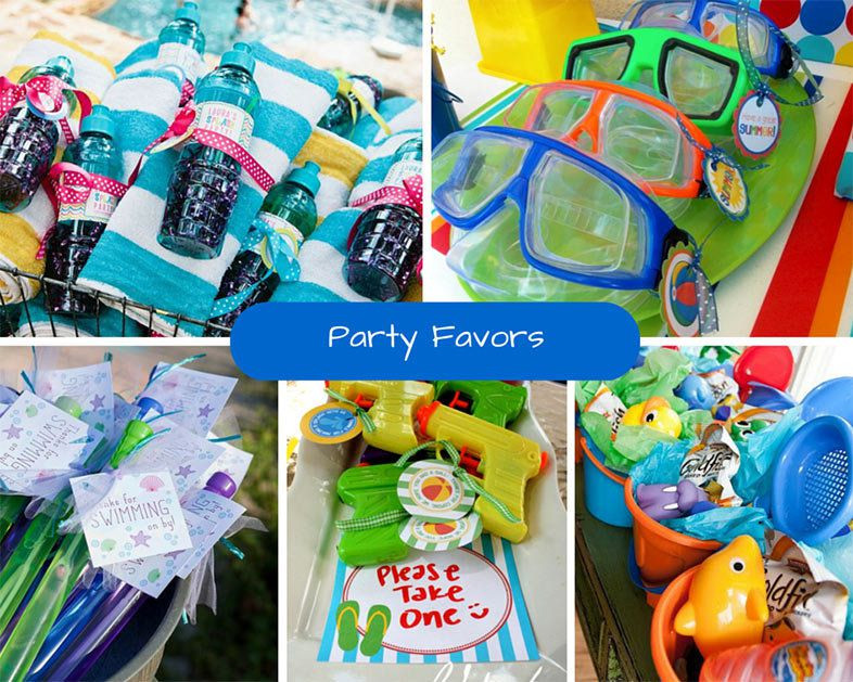 Pool Party Gifts Ideas  Kids Pool Party Ideas