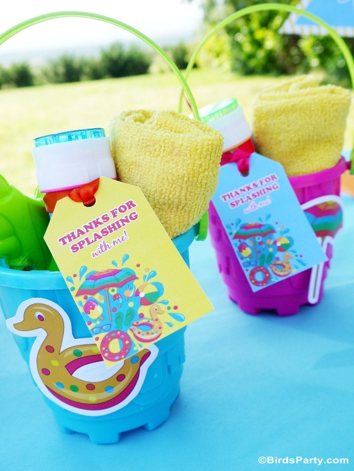 Pool Party Gifts Ideas  Pool Party Ideas & Kids Summer Printables Party Ideas