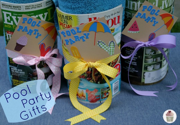 Pool Party Gifts Ideas  Pool Party Gifts Hoosier Homemade