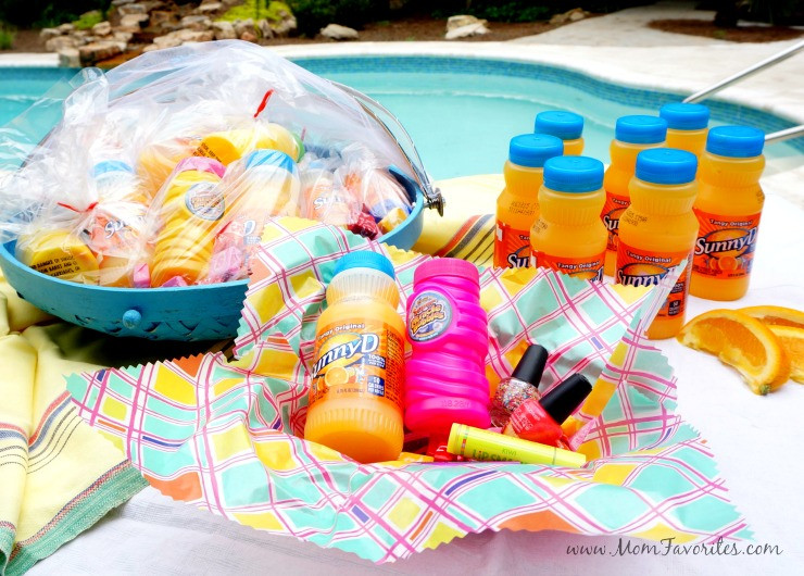 Pool Party Goody Bag Ideas  Fun in the Sun Pool Party Ideas Forks and Folly