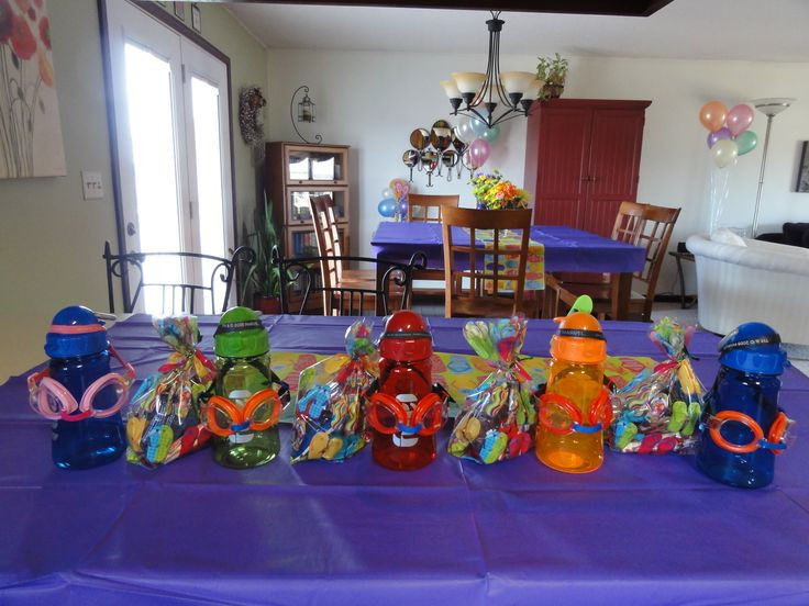 Pool Party Goody Bag Ideas  Best 25 Swimming party favors ideas on Pinterest