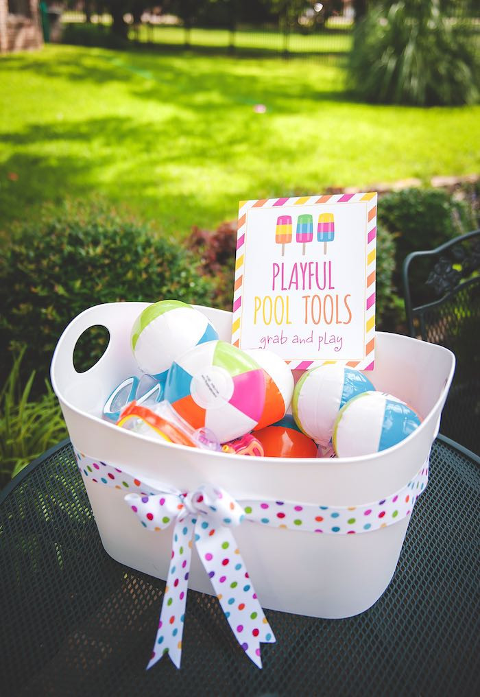 Pool Party Ideas  Kara s Party Ideas Birthday Popsicle Pool Party