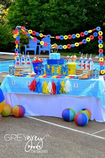 Pool Party Ideas For 8 Year Olds  Pool Party Decorating Ideas