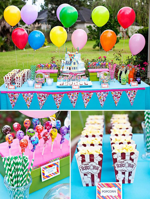 Pool Party Ideas For 8 Year Olds  Aniversário colorido UP Altas Aventuras