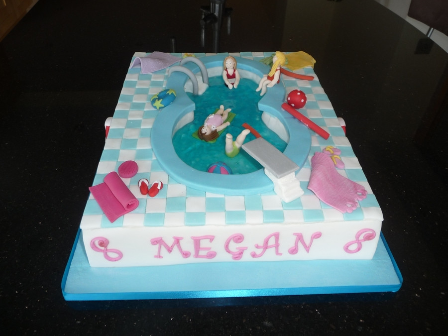 Pool Party Ideas For 8 Year Olds  Swimming Pool Fun CakeCentral