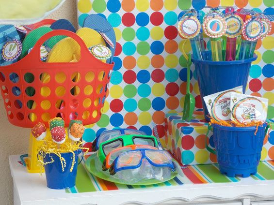 Pool Party Ideas For 8 Year Olds  kid pool party ideas Colorful Summer Pool Bash