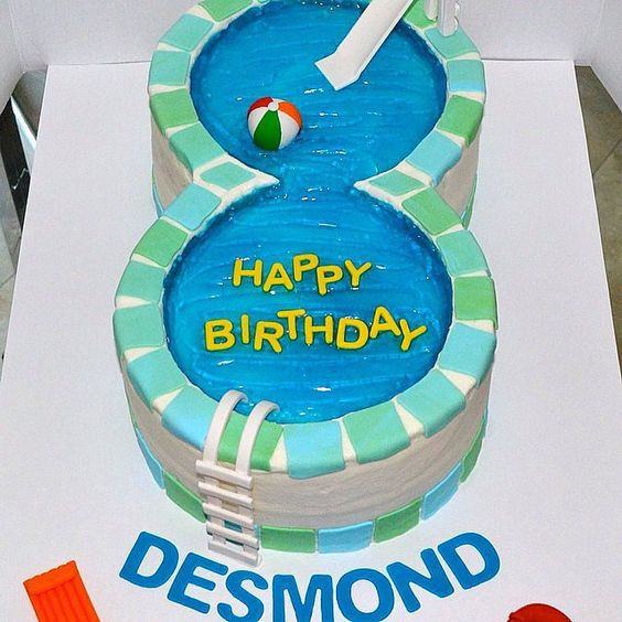 Pool Party Ideas For 8 Year Olds  25 Pool Party Cakes That Make a Splash