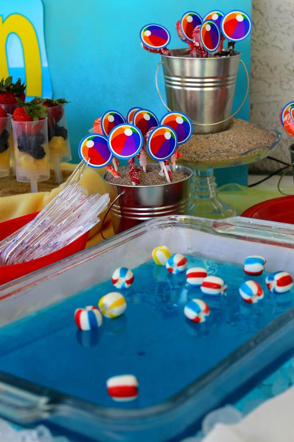 Pool Party Ideas For Girls  Kara s Party Ideas Beach Ball Birthday Party Supplies