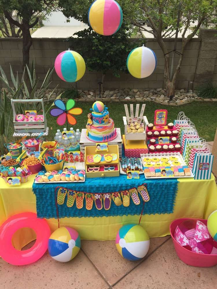 Pool Party Ideas For Toddlers  Swimming Pool Summer Party Summer Party Ideas