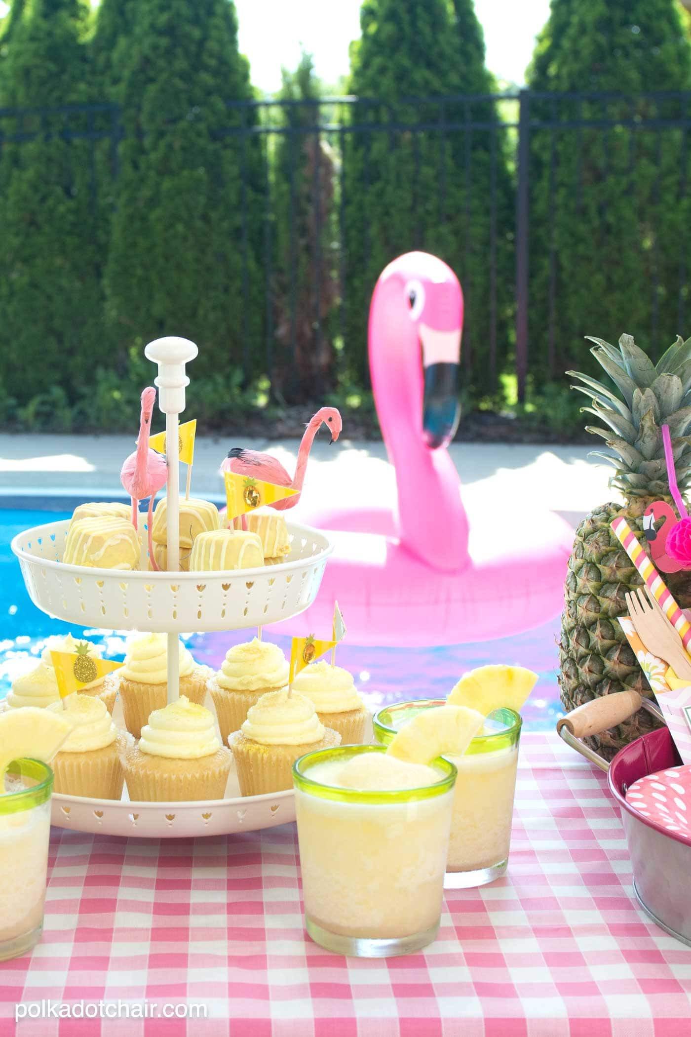 Pool Party Ideas For Toddlers  Summer Backyard Flamingo Pool Party Ideas The Polka Dot