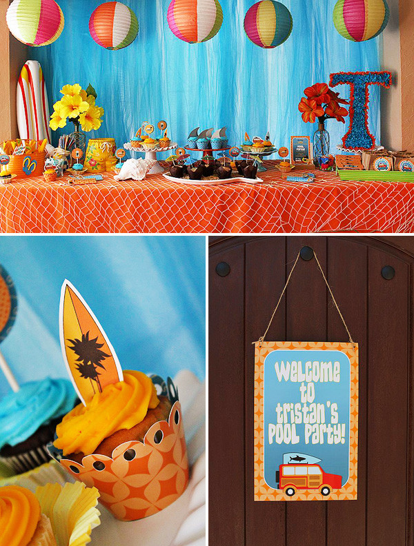 Pool Party Ideas For Toddlers  Cheer s to Summer Surfer Style Kids Pool Party Ideas