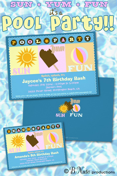 Pool Party Invitations Ideas  bnute productions Pool Party Invitations and Party Ideas