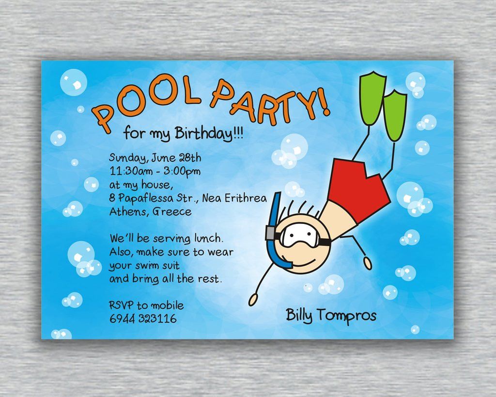 Pool Party Invitations Ideas  Pool Party Invitation Ideas
