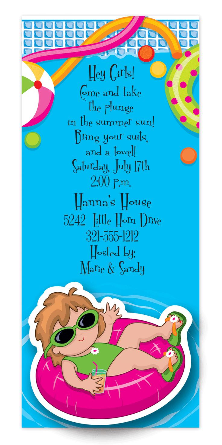 Pool Party Invitations Ideas  71 best Pool Party Invitations images on Pinterest