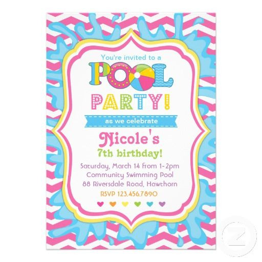 Pool Party Invitations Ideas  20 best Pool Party Invitation Templates images on