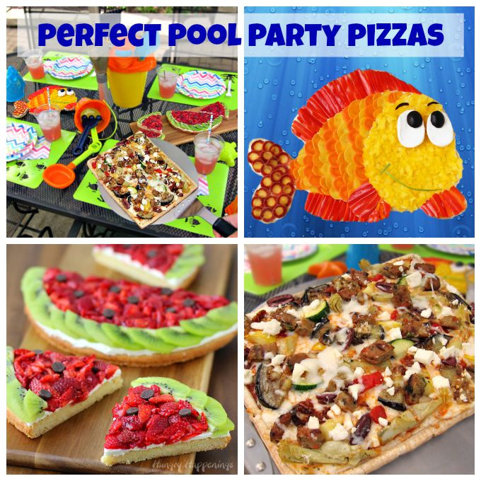 Pool Party Menu Ideas  Perfect Pool Party Pizzas