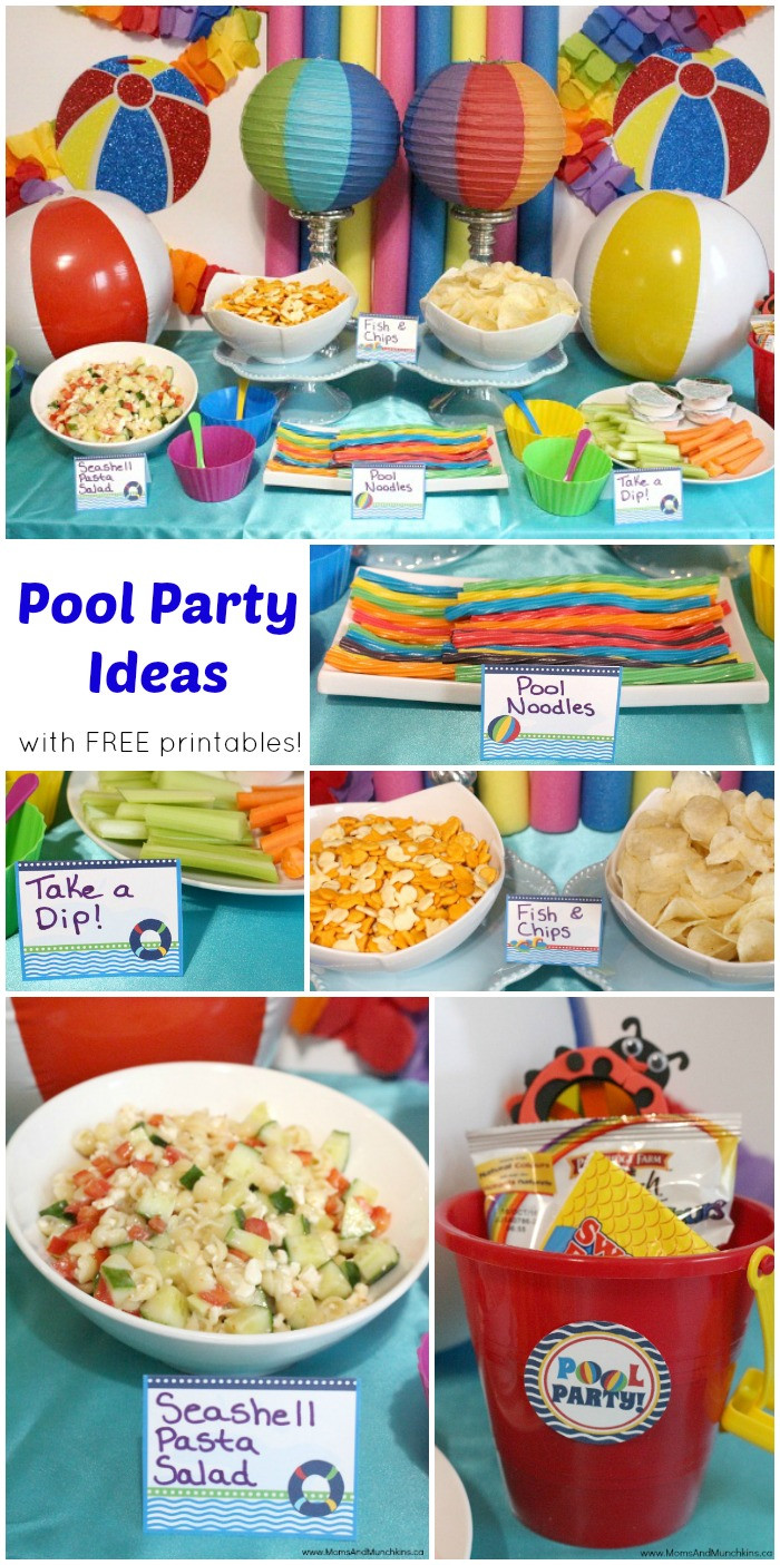 Pool Party Menu Ideas  Pool Party Printables Free Moms & Munchkins