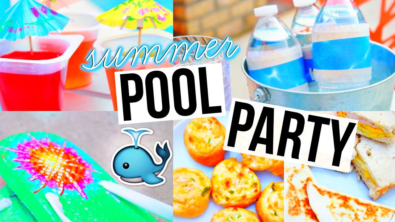 Pool Party Snack Ideas  DIY POOL PARTY Snacks Decor & More