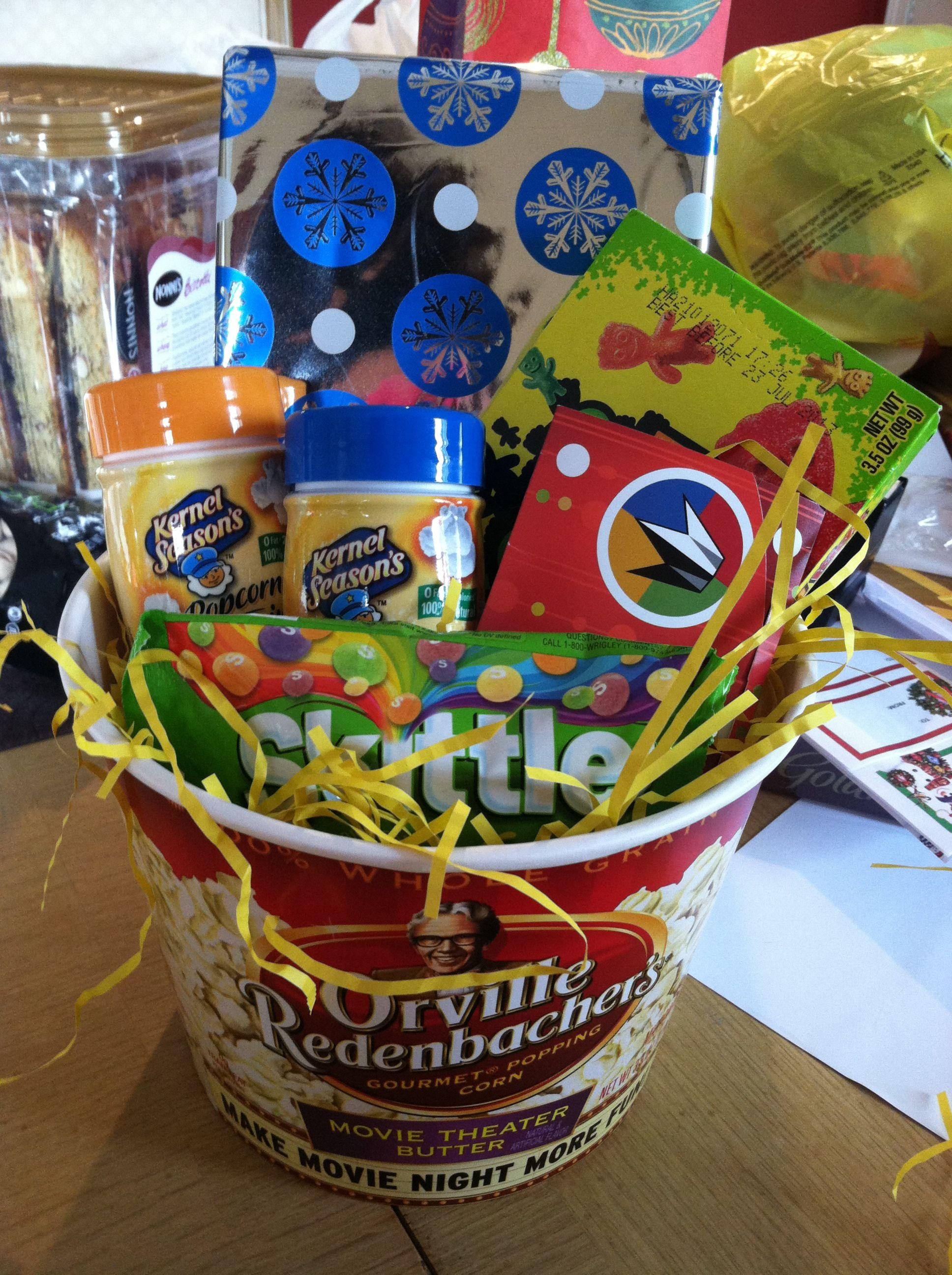 Popcorn Gift Baskets Ideas  Movie Gift Basket Orville popcorn bucket from Tar