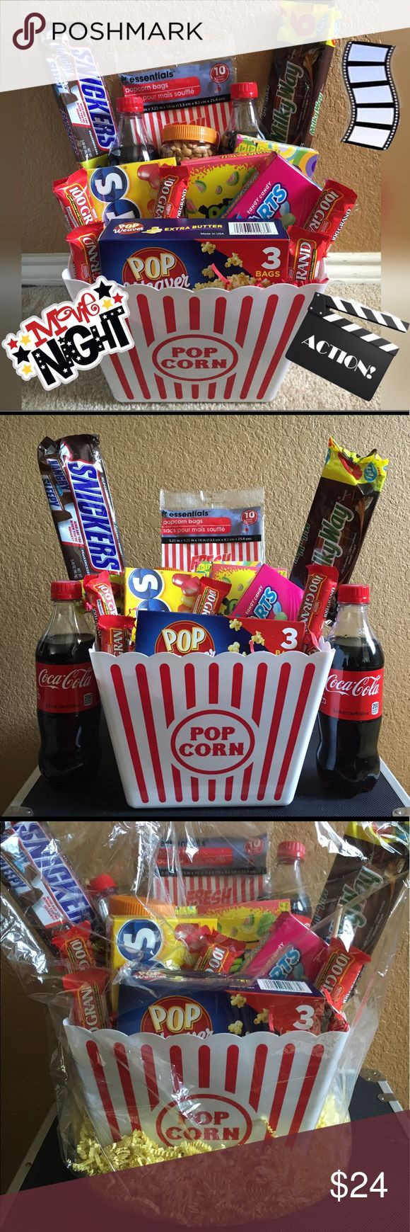 Popcorn Gift Baskets Ideas  25 unique Popcorn t baskets ideas on Pinterest