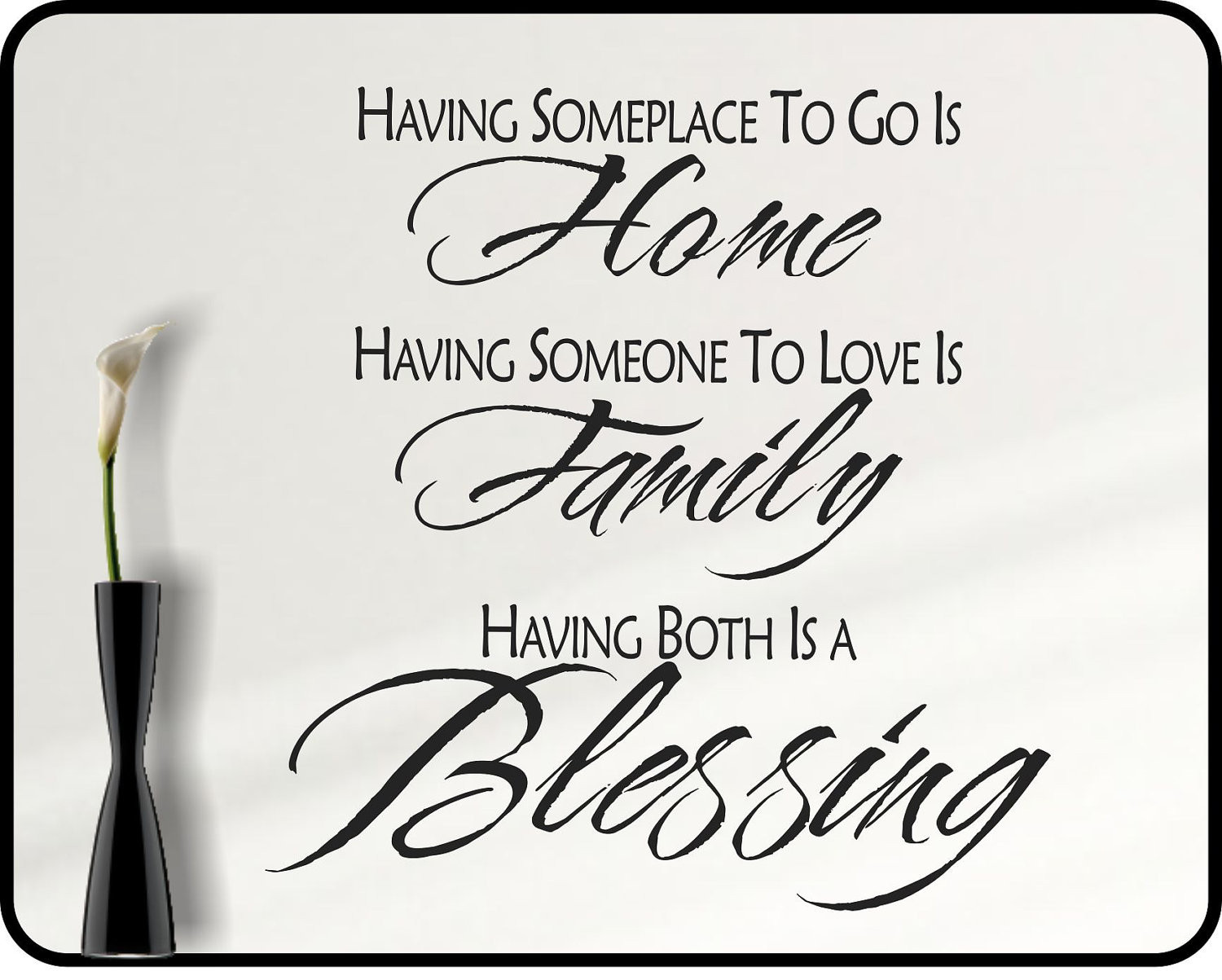 Positive Family Quotes  Inspirational Family Wall decal quote family blessing home