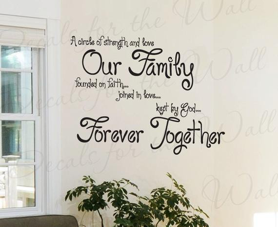 Positive Family Quotes  A Circle Strength and Love Our Family Faith Inspirational