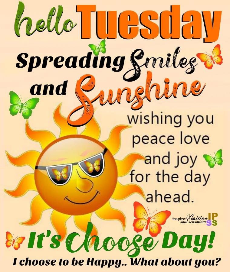 Positive Tuesday Quotes  Smiles And Sunshine Happy Tuesday s and